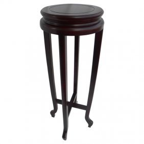 Asian Ming Style Round Rosewood Plant Stand
