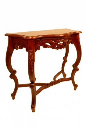 Chippendale Console Table Acorn Carved
