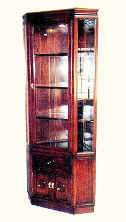 Rosewood Oriental Corner China Cabinet
