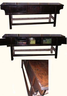 Chinese Antique Splayed Leg Farm Table