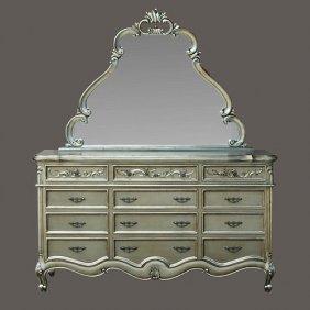 Platina Vargas Dresser /mirror