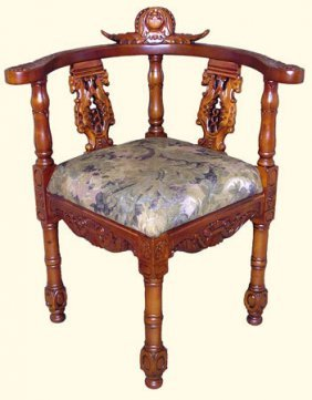 Carved Chippendale Corner Chair