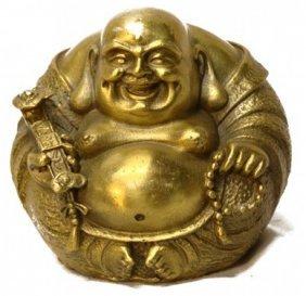 Small Bronze Happy Buddha Statue