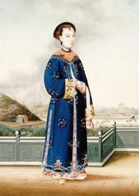 Chinese School - An Elegantly Dressed Chinese Hong