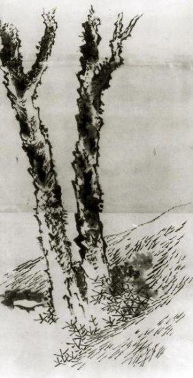 Hokusai - Two Trees 1830s