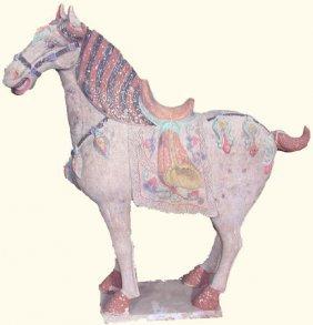 Chinese Sculpture Handpainted Ceramic