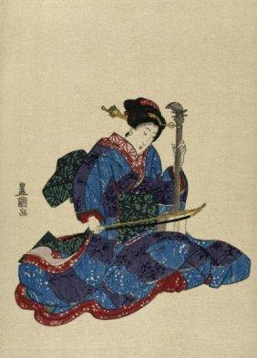 Utagawa Toyokuni - Shamisen I