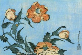 Hokusai - Poppies