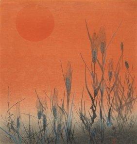 Kogyo Terazaki - Rice At Sunset, Ca. 1890-1895