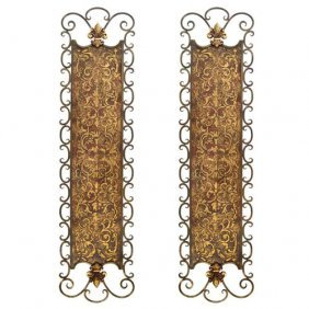 Iron Scroll Wall Art - Set 2