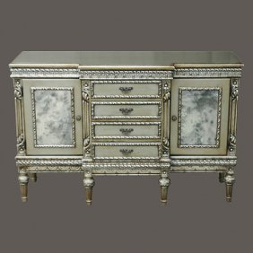 Platina Glass Sideboard