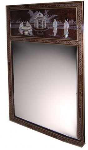 Oriental Mirror In French Brown Tortoise Shell And