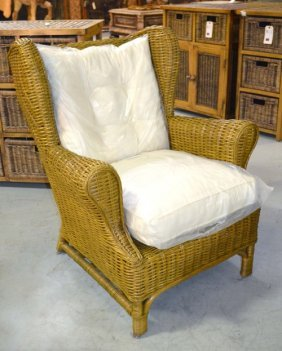 Winged Rattan Chair -candy Brn