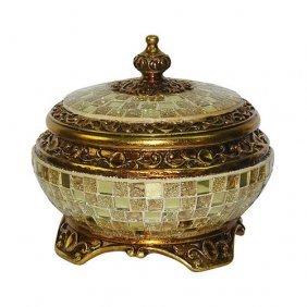 Gold Mirazzo Jewelry Box