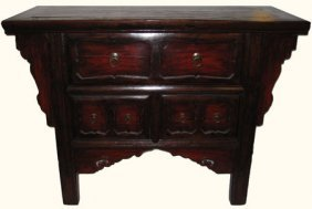 Chinese Antique Chest Of Drawers With Hand Carved