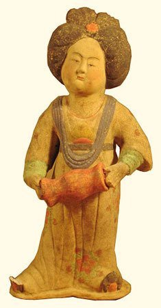 """Chinese Statue 15""""h Accordion Player"""