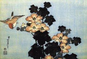 Hokusai - Hibiscus And Sparrow