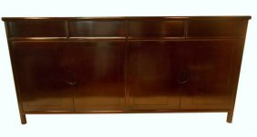 """72"""" Solid Rosewood Cabinet In Clean Simple Lines"""