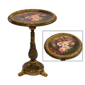 Rococco Floral Side Table