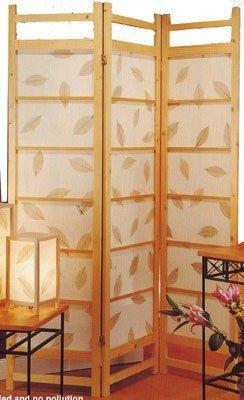 "72""h Wooden Folding Floor Screen Botanic Design"