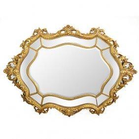 Queen Baroque Oval Mirror