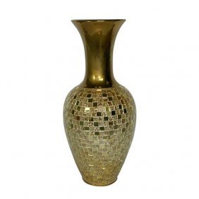 Gold Mirrazo Vase