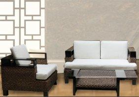 Southeast Asian Rattan Living Room Set