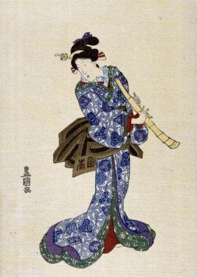 Utagawa Toyokuni - Shakuhachi