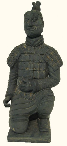 Chinese Kneeling Warrior Statue