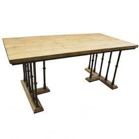 Iron Ballaster Desk Table