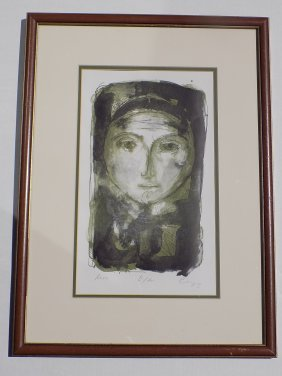 Picasso Signed Artist Proof Face Lithograph Pablo
