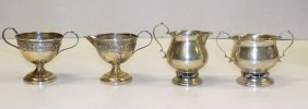 2 Sterling Silver Cream & Sugar Sets Mhf Signed