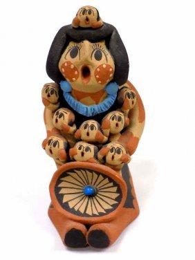 Jemez Story Teller Indian Pottery Caroline Sando -