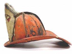 Antique Cairns Leather Eagle Firemans Helmet Rare
