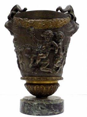 Clodion - Bacchanalian Bronze Urn Claude Mechel Clodion