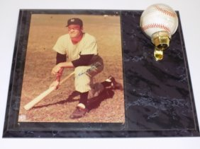 Hank Bauer Autographed Baseball & Photo Vintage New