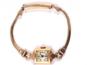 Art Deco Halgreen 14k Gold Ladies Watch