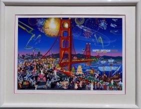 Melanie Taylor Kent Golden Gate Bridge Lithograph