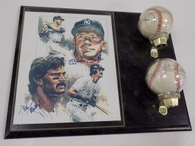 Mickey Mantle & Don Matingly Signed Baseballs