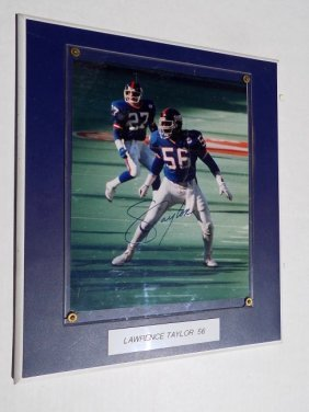 Ny Giants Lawrence Taylor Signed Photograph