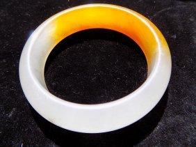 Chinese Mandarin Jade Bracelet
