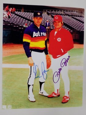 Nolan Ryan Pete Rose Autographed Photograph