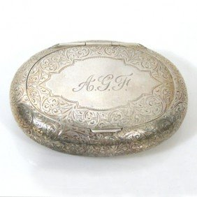 English Sterling Silver Tobacco Box