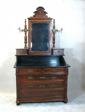 Victorian Dresser With Granite Countertop