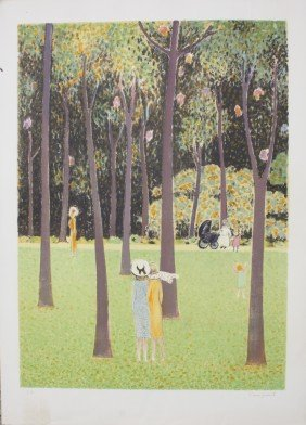 "Jean Pierre CASSIGNEUL (1935) ""Promenade Au Bois"""