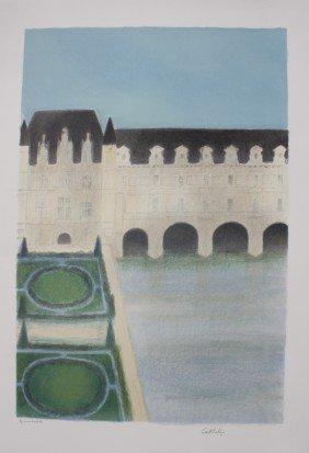 "Bernard CATHELIN (1919-2004) ""Chenonceau"" Lithogra"
