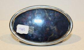 Cadre Ovale En Argent. P : 73,3 G