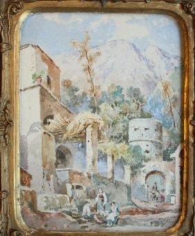 Achille VIANELLI (1803-1894) Fort D'Ischia Pr�s Du