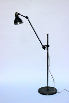 Bernard albin gras 1886 1943 rare lampadaire en tube lot 38 - Lampadaire bras articule ...
