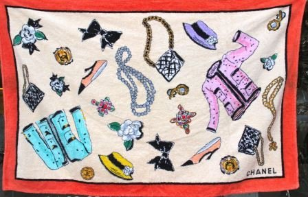 Chanel serviette de plage en coton d cor de v tements lot 48 - Decor plage ...